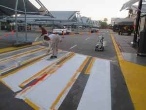 Line marking by Grant Painters